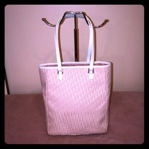 Christian Dior Pink/White Monogram Shoulder Bag